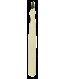 Pince à épiler noel blanc or