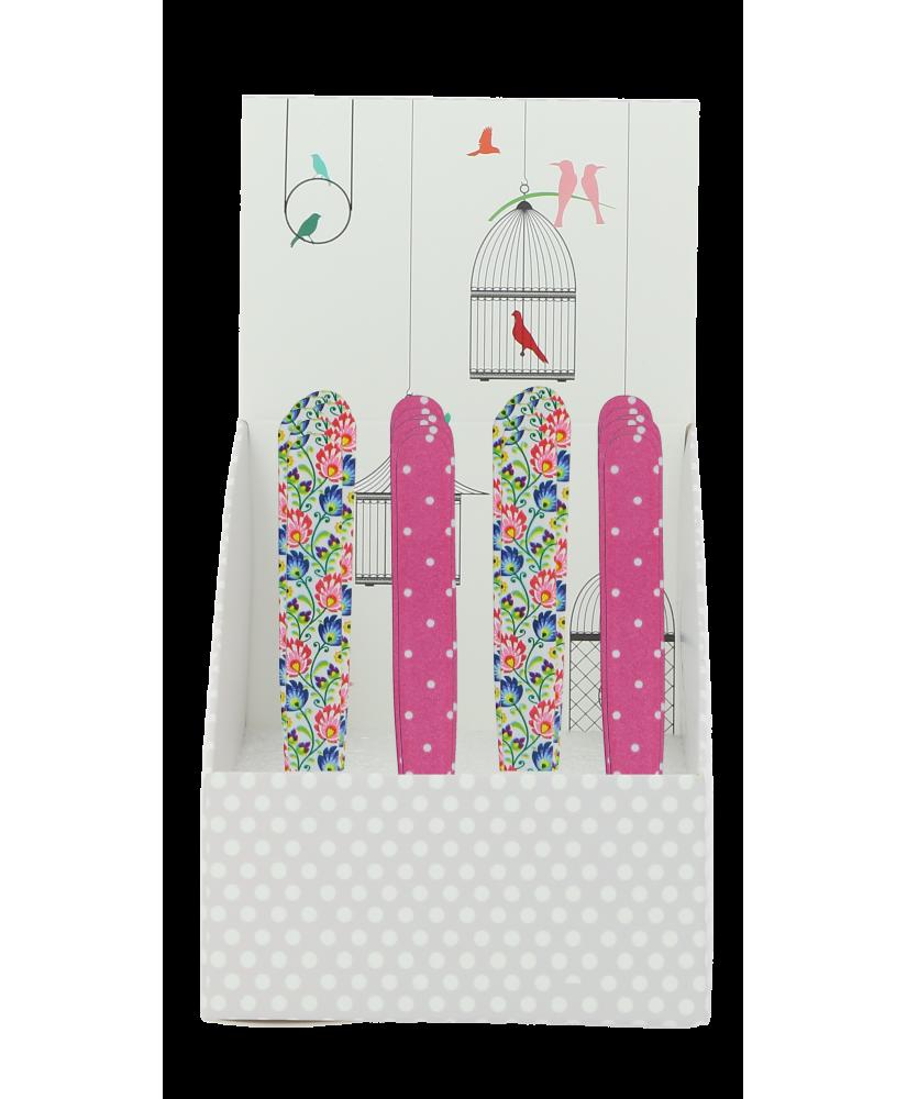Présentoir 24 pinces à épiler Flower