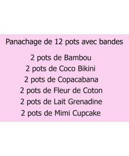 PANACHAGE 12 CIRES AVEC BANDES - 6 PARFUMS